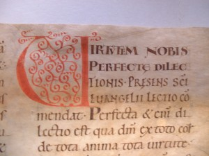 Beginn der Homilie zu Vigilia Petri et Pauli GStA Berlin, vorläufige Signatur XX. HA, Hs 86, Nr. 21 (Bild: Anette Löffler)
