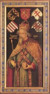 Darstellung Kaiser Sigismunds durch Albrecht Dürer, 1513; (c) Wikimedia Commons