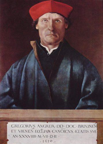 Marx Reichlich, Porträt des Brixener Domherrn Gregor Angrer, 1519 (Tiroler Landesmuseum Ferdinandeum, Innsbruck, Gemeinfrei)