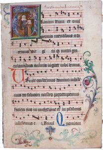 Birgittine antiphoner, late 15th century. License: Free-public domain. Photo: Volker Schier