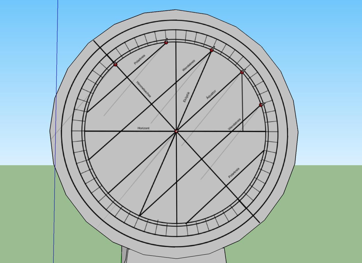 Bild 13: Simulation des Schattenwurfes in Sketchup (eigenes Werk)