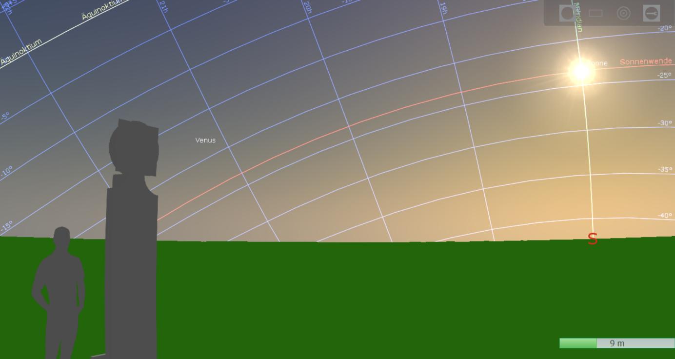 Bild 14: Integration der Sphaera in Stellarium mit Plugin 3D Scenerie (eigener Screenshot)